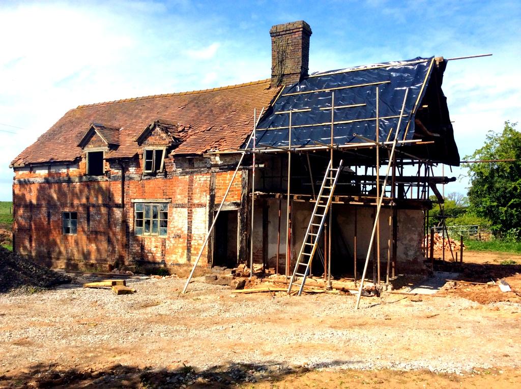Front Preparation for New Oak Frame