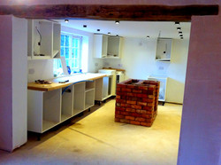 Kitchen with Brick Built Island