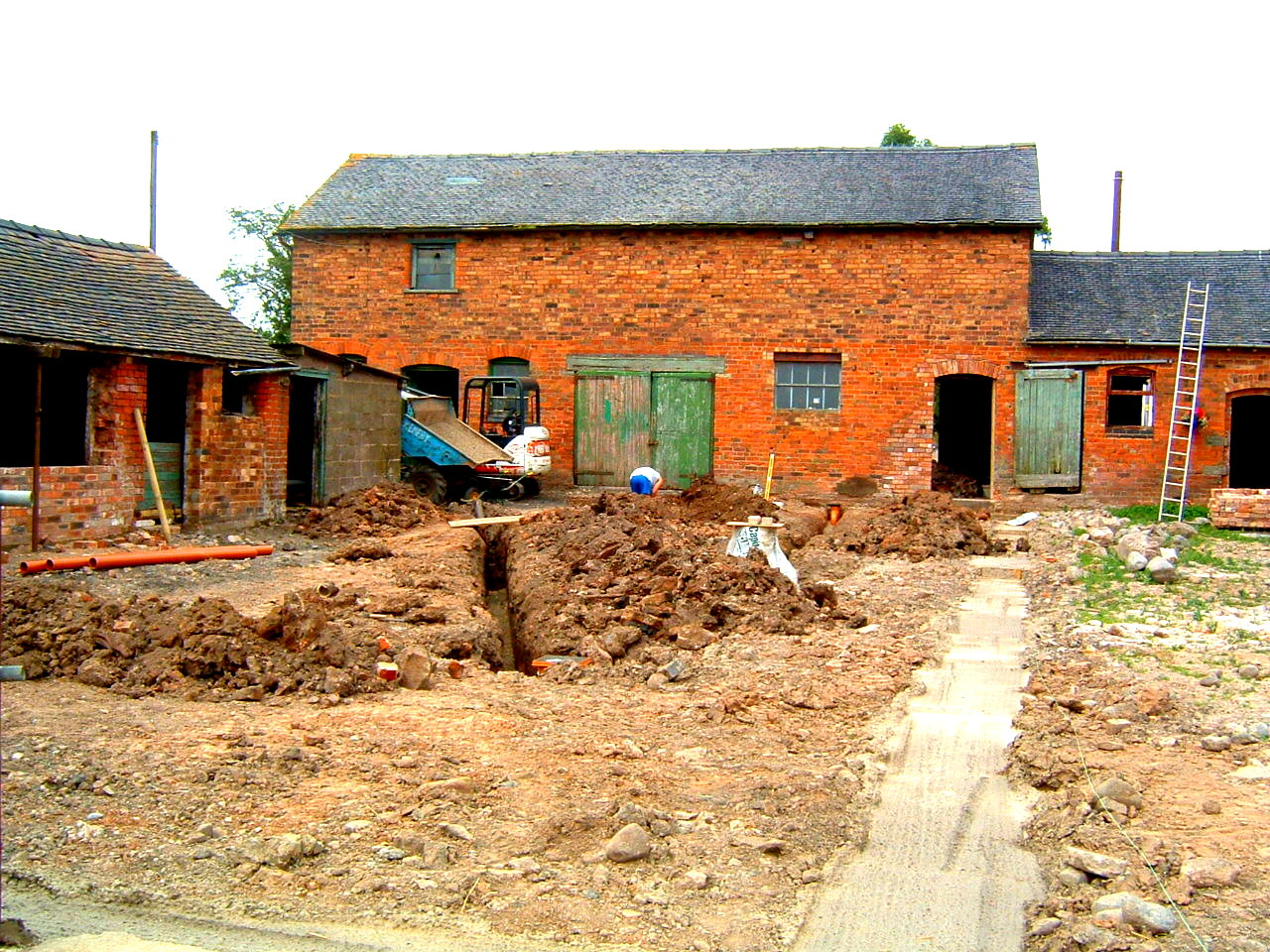 Rear Aspect Barn Conversion Before