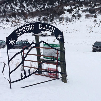 spring gulch nordic ski trails parking lot crosscountry carbondale