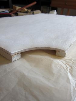 Padded backboard