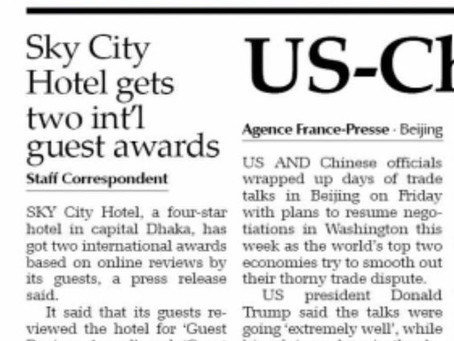 Sky City Hotel gets two international guest awards - Feb 2019