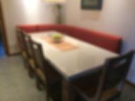 Table en béton et bois