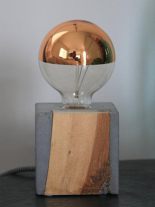 Lampe de table béton & bois