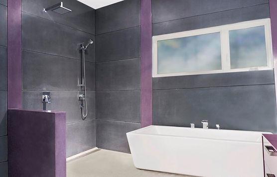 Murs de douche en béton