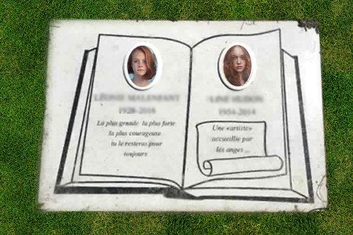 """Plaque funéraire au sol rectangulaire 12/18"""""""