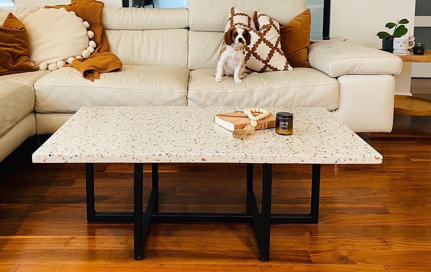 Table salon terrazzo
