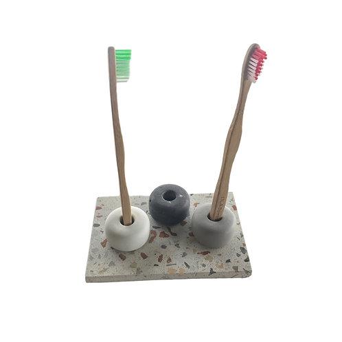 Ensemble support brosse à dent