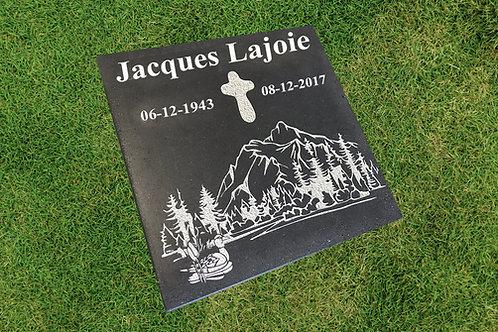 """Plaque funéraire au sol carré 12"""""""