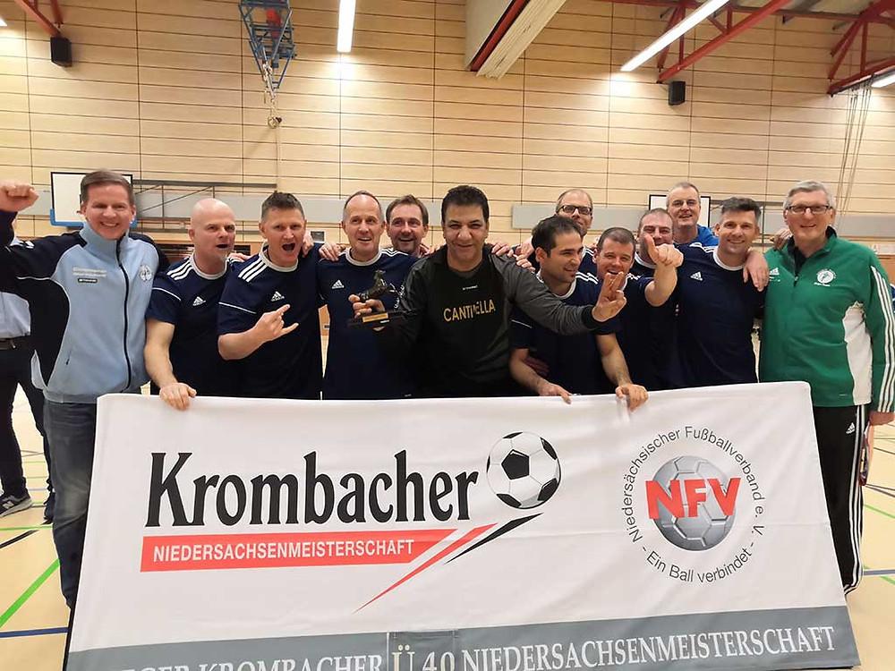 BFC Ü40: Dritter bei den Niedersächsischen Hallenmeisterschaften