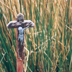 Crucifix in the reeds, Wastwater