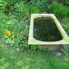 Bathtub, Willie and Claudine's garden