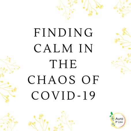 Finding calm in the chaos of COVID-19