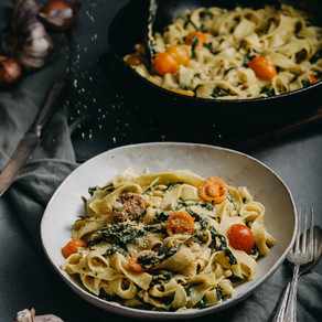 Kale, Lemon and Pine Nut Pasta