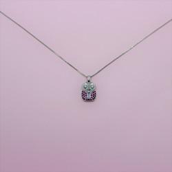オーダーのネックレス/プラチナ900 ルビー ダイヤモンド