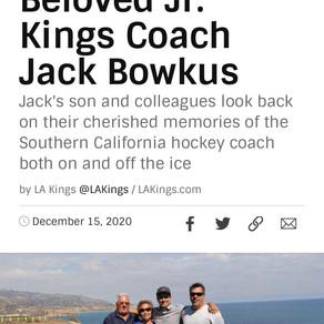 LA Kings remember beloved Jr. Kings coach Jack Bowkus