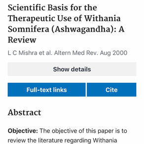The science of Ashwaghanda