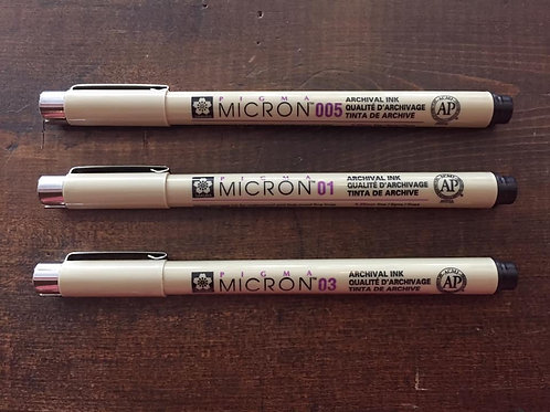 Micron Pens (assorted)