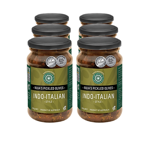 Nuja's Indo-Italian Style Pickled Olives PACK