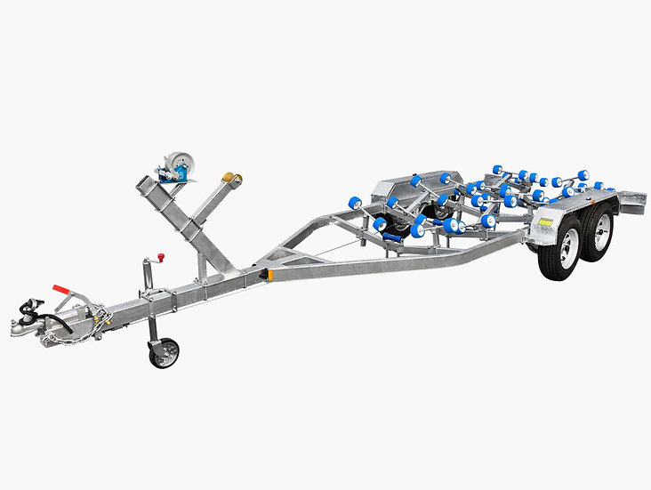6500 Tandem Axle Boat Trailer with Disc Brakes (Wobble Rollers) - 2000KG ATM
