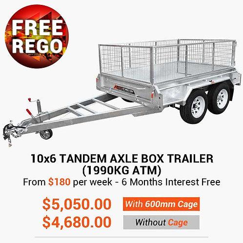 10×6 Tandem Cage Box Trailer