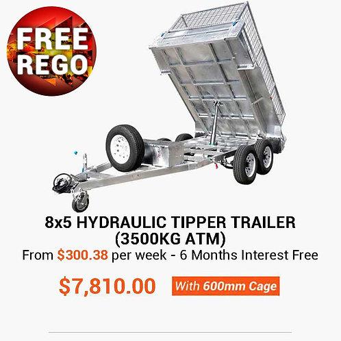 8×5 Hydraulic Tipper Trailer