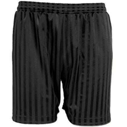 Black Shadow Stripe PE Shorts