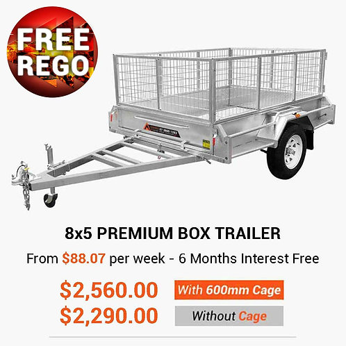 8×5 Premium Box Trailer (Fully Welded)