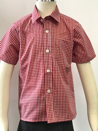 Verwood First CE School Red and White Check Shirt