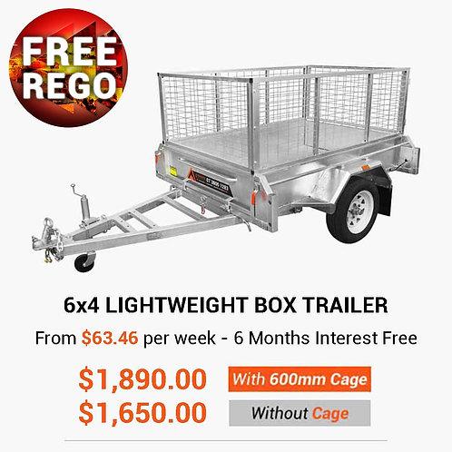 6x4 Lightweight Cage Box Trailer