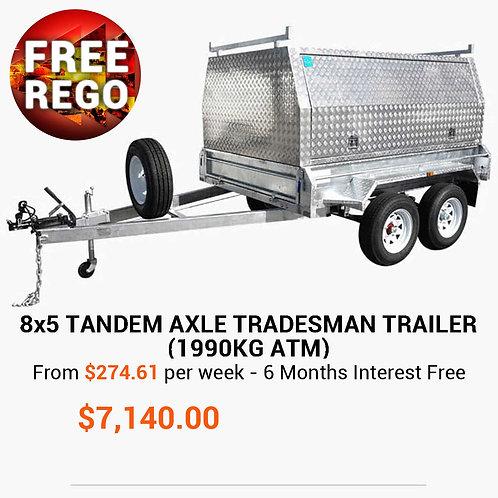 8x5 Tandem Tradesman Trailer