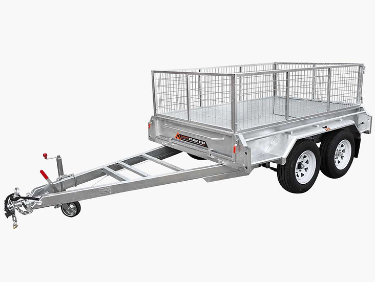 10×5 Tandem Caged Box Trailer - 1990KG ATM