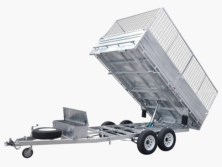 12×7 Flat Top Hydraulic Tipper Trailer - 3500KG ATM