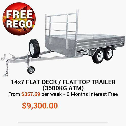 14×7 Flat Top / Flat Bed Trailer