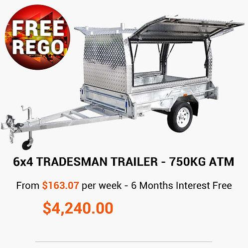 6x4 Tradesman Builders Trailer