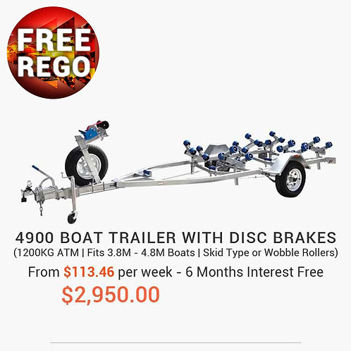 4900 Boat Trailer with Disc Brakes
