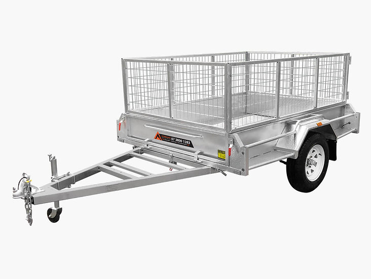 7×4 Galvanised Premium Box Trailer - 750KG ATM