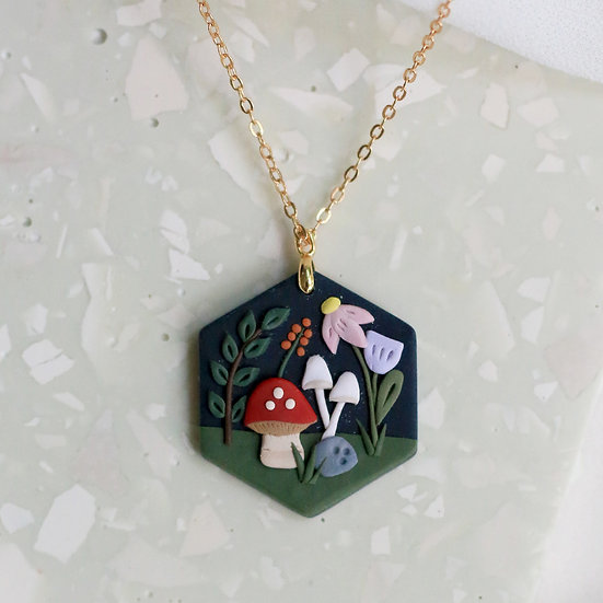 Whimsical Forest Hex Necklace