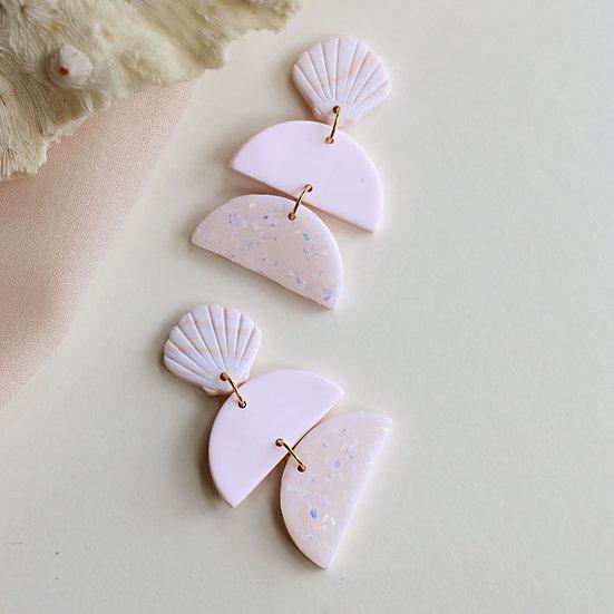 Seashell Opal Moon Tier Dangle