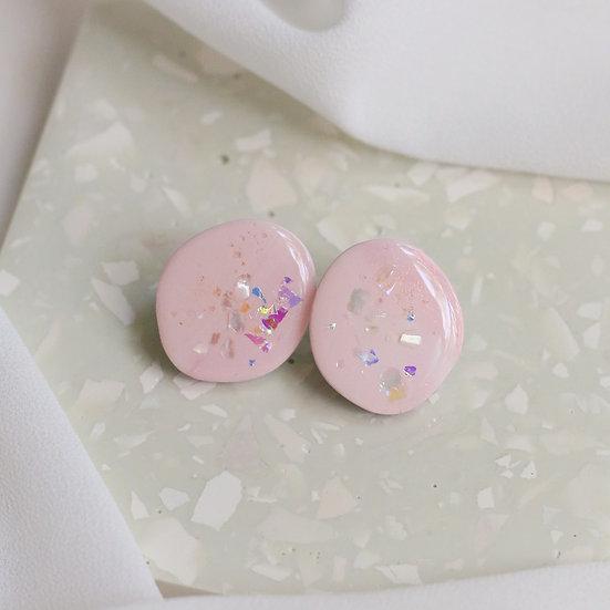 Shoreline Stone Studs in Pink Salt