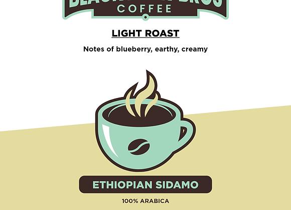 16 oz Light Roast Ethiopian Sidamo Coffee