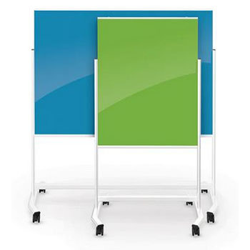 MooreCo Visionary Move Colors Mobile Magnetic Glass Board