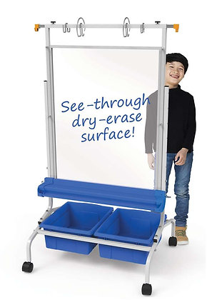 Copernicus Clear Dry-Erase Chart Stand
