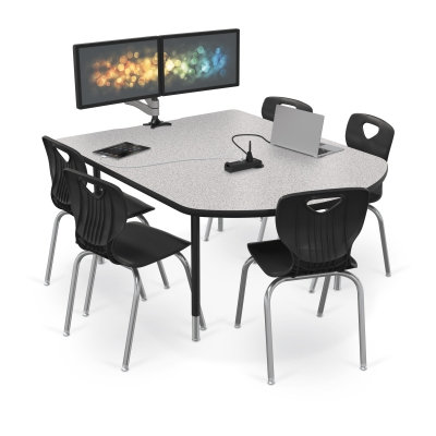 MooreCo MediaSpace Multimedia & Collaboration Table - Small
