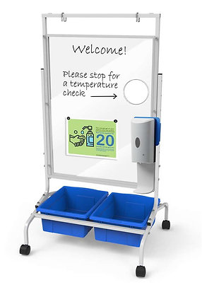 Copernicus Clear Dry-Erase Health Screening Station