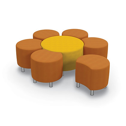 MooreCo Blossom Soft Seating Modular Upholstered Stool & Lounge Seat