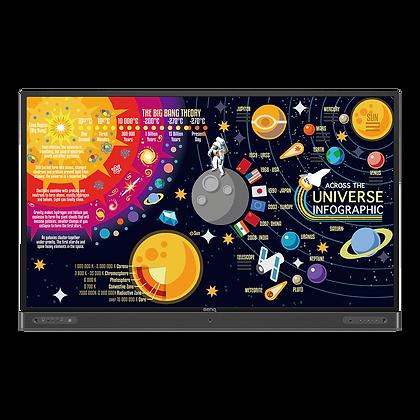"BenQ 4K UHD 75""Education Interactive Flat Panel Display | RP7502"