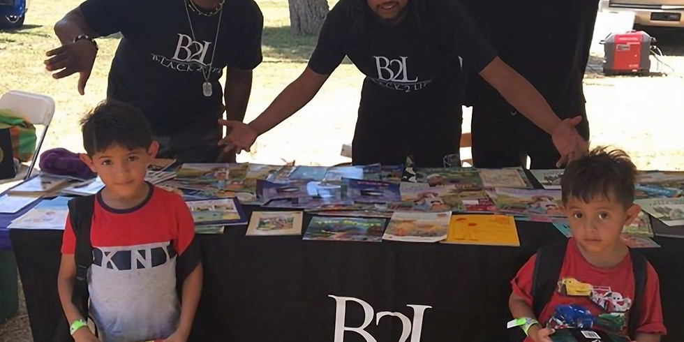 Handing out Books with B2L!