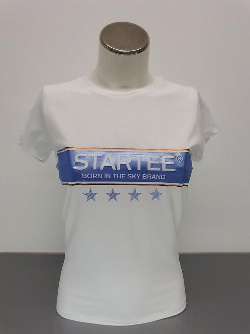 T-shirt women Startee 4étoiles ciel et cuivre