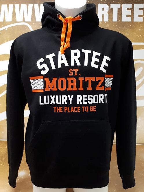 Hoodie men Startee St-Moritz.B orange.blanc
